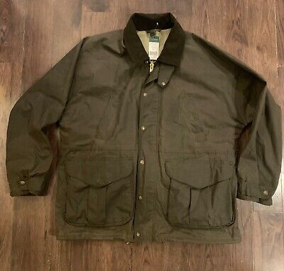 f1d569eef3176 NWT Filson Tin Cloth Field Hunting Coat Jacket otter green XL Made in USA