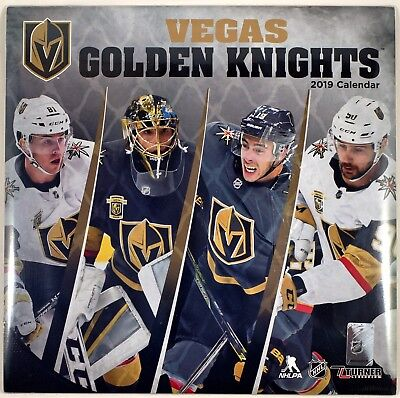 "Las Vegas Golden Knights™ 2019 Wall Calendar by Turner (12"" x 24"" open) (Sealed)"