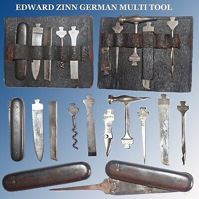 Antique 10 Pc German Multi Tool By Edward Zinn With Some Hard To Find Components