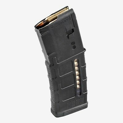 Black Magpul Pmag 30, Gen 3, 5.56/.223 Window with Dust Cover