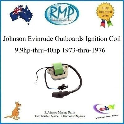 A Brand New Evinrude Johnson Outboard Ignition Coil 9.9hp-thru-40hp # 581407