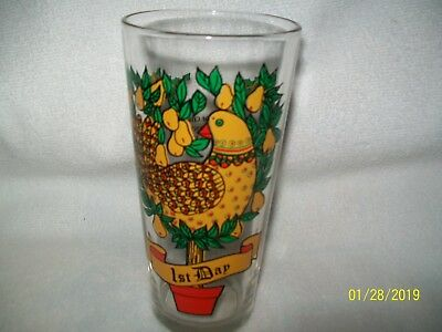 12 Days of Christmas Glass Tumbler 1st Day Replacement