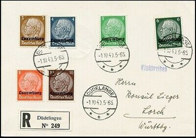Ge030. German Occupation Of Luxembourg Fdc Card 1940 Provisional Stamps