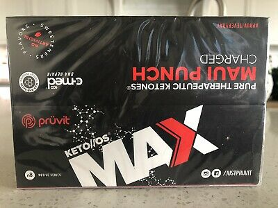 Keto OS Max Maui Punch By Pruvit Box 20 OTG Packets Charged Ketones NEW IN BOX!