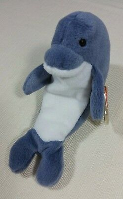 Retired Ty Beanie Babies Original Echo Dolphin Style   04180 with Waves Tags 04f668f3bec2