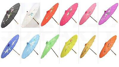 Classic Chinese Japanese Umbrella Flower Print Parasol Wedding Events Decor