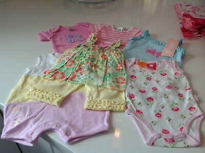Bulk Lot Baby Girl Rompers And Summer Outfits. Exc.Size 0000. 0-3 Months.