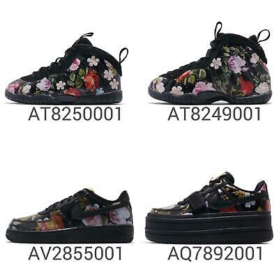 cf26a72e7d84c Nike Wmns Little Posite One   Vandal 2K   Force 1 Black Floral Women Kids  Pick