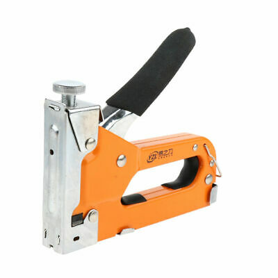 3 in 1 Cold-rolled Steel Handle Staple Brad Nailer Cable Tacker + 600 Staples