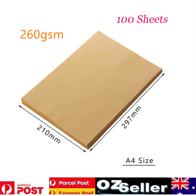 100x 250GSM A4Brown Kraft Paper Paperboard Natural Recycled Blank Cards AU Stock