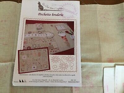 Pochette Broderie From Un Chat L' Aiguille . Embroidery Kit