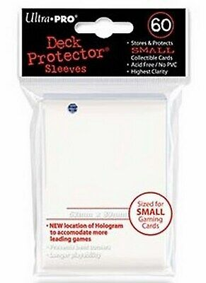 60 Deck Protector Sleeves Ultra Pro YuGiOh SMALL WHITE Bianco Bustine Protettive