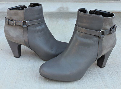 50979f301c1 Easy Spirit Pedrina ankle booties boots gray suede leather size 7 womens  shoe 7M