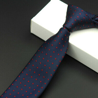 #5  Skinny Tie Jacquard Woven Slim Men's Necktie Wedding Hot Silk Plain