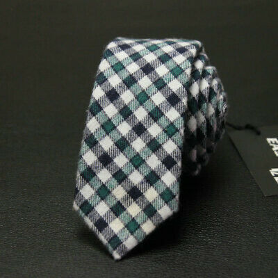 Necktie Tie Skinny Men's Narrow Party Wedding Striped Cotton New
