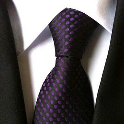 #9 Men's 100%Silk Casual Polka Dot Fashion Tie Necktie Classic Jacquard Woven