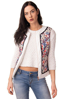 VDP CLUB Down Quilted Gilet Size IT 42 / S Floral Pattern Studded Made in Italy