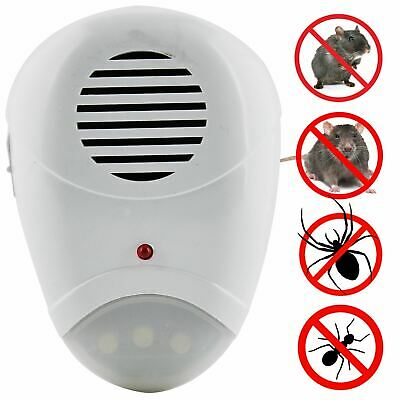 Electric Anti Insect Ultrasonic Pest Repeller Plug In Mice Mouse Rat Rodent Ant