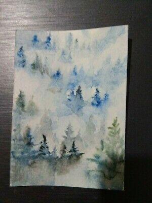 ACEO Original Art Painting 14 by Anna N f4