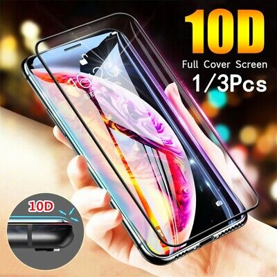 3Pcs 10D Full Cover Tempered Glass Screen Protector For iPhone X XS XS Max XR