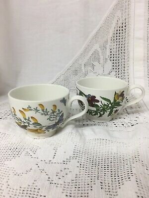 Pair Of VINTAGE Portmeirion Botanic Garden Cups SPARES / REPLACEMENTS
