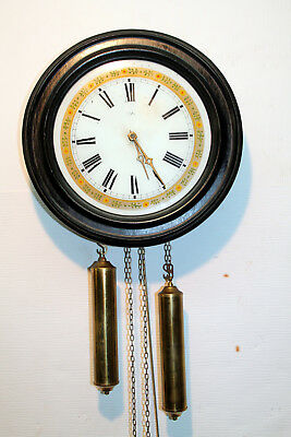 Old Wall Clock Regulator Chime Clock ***ORFAC*** dial in Glass
