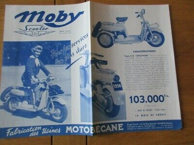 Catalogue Motobecane Scooter Type S.b.h Luxe  Moby Scooter 1956