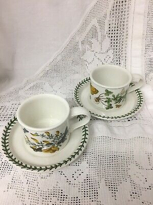 VINTAGE Portmeirion Botanic garden set of 2 tea cups and saucers