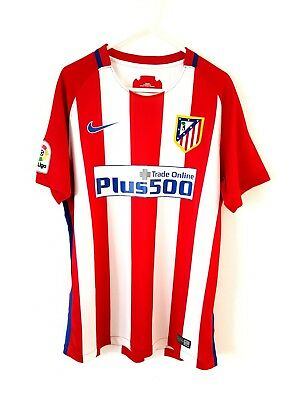Atletico Madrid Home Shirt 2016. Small Adults. Nike. Red Football Top Only S.