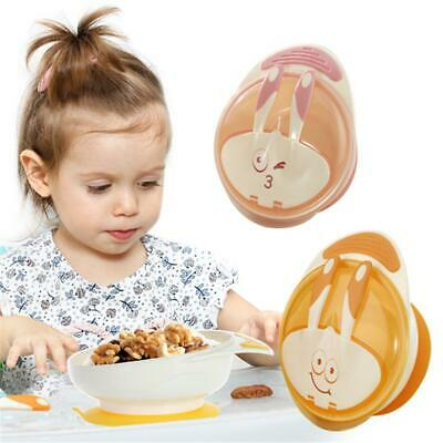 Baby Kids Suction Cup Bowl Feeding Tableware Sucker Bowl Set Food Bowl Dishes