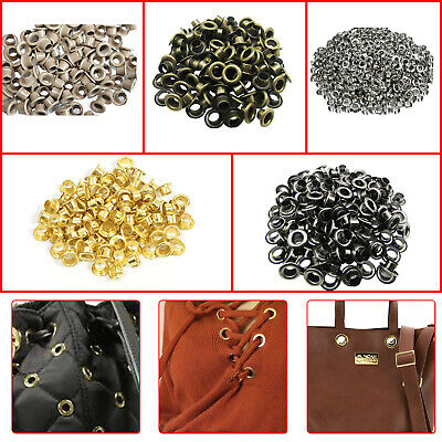 100pcs Round Iron Grommet Eyelets with Washers DIY Leathercrafts Clothing Repair