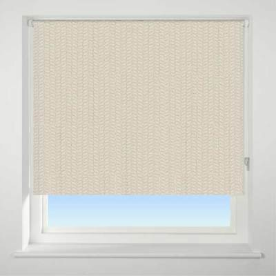 Universal Knitted Texture Patterned Thermal Blackout Roller Blind, Neutral