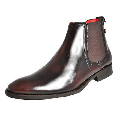71b74649707d18 Base London Hide Men s Smart Leather Chelsea Boots Brown (Sample) UK 8 Only