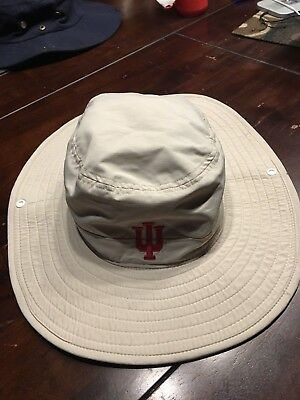 a7ea2a0d5ecd6 Adidas Safari Bucket Golf Hat Indiana University Sz. S M - EUC.