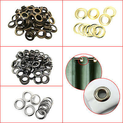 14mm - 20mm Iron Eyelets Grommet with Washers DIY Tarpaulin Vinyl Banners Tents