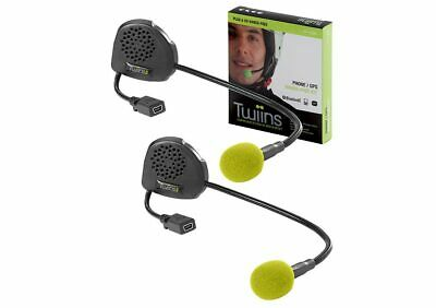 New Open Face Hands Free Bluetooth D1 Twin Pack Motorcycle Communication Headset