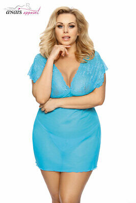 Chemise Turchese 6Xl In Tulle E Pizzo Ofely Anais An-0030