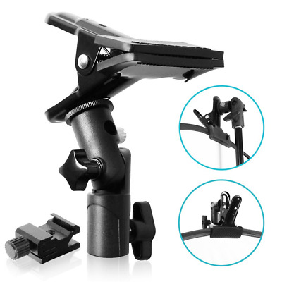 Selens Clip Clamp Holder Bracket for Reflector Umbrella Flash Background with on