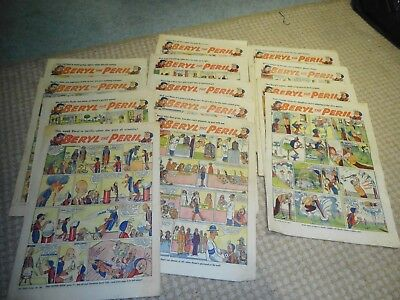 THE TOPPER Newspaper Inserts BERYL THE PERIL, Tiny Tim 1956, 1957, 1958