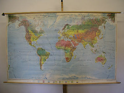 Schulwandkarte Beautiful Old World Map Wall Card 195x121cm Orbit Vintage