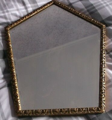 Vintage Gilt Framed Bevel Edged Arched Top Wall/Dressing Table Mirror