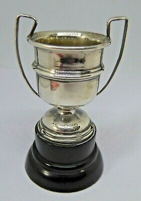 Antique Hallmarked Chester Silver Miniature Cup Trophy - 1916