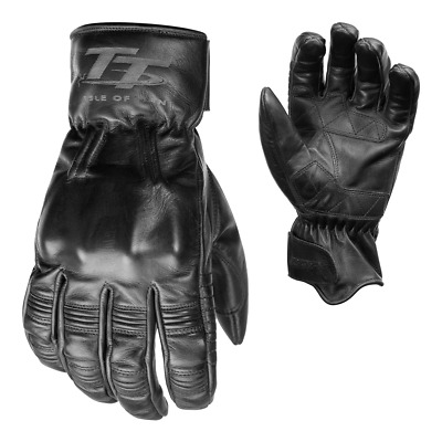 RST IOM TT Hillberry Classic Leather Riding Gloves - CE APPROVED - Black