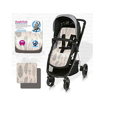 Brand new CuddleCo comficush memory foam stroller liner in grey feathers
