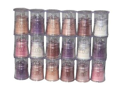 18 x NYC Sparkle Eye dust | 6 Shades |Champagne | Smokey Topaz | Opal Sparkle |+