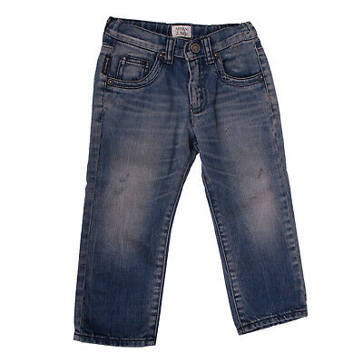 ARMANI JUNIOR Jeans Size 2Y / 94CM Distressed Adjustable Waist Made in Italy