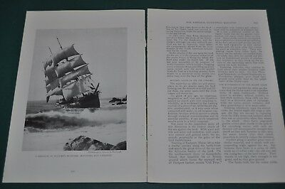 1918 USA ATLANTIC COAST magazine article, erosion, shipwrecks Coast Guard