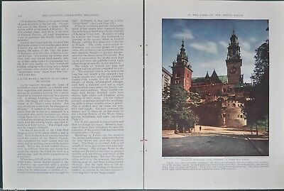 1932 magazine article, POLAND, history, people, etc, color photo