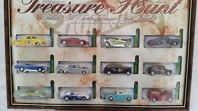 Hot Wheels //  2002  Treasure Hunt Set // Framed   //