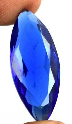 Blue Topaz Loose Gemstone 18.65 Carat/31mm Marquise Cut IGL Certified